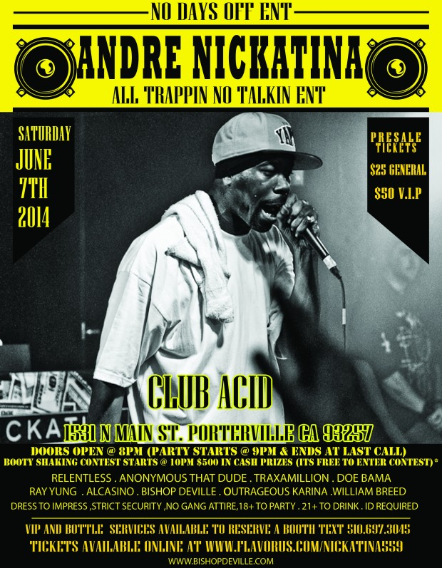 andre nickatina @club acid june 7th 2014